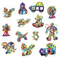 Pure Magnetic Piece Variety Building Blocks Magnet Assembled Children Kids Educational Toys 109pcs