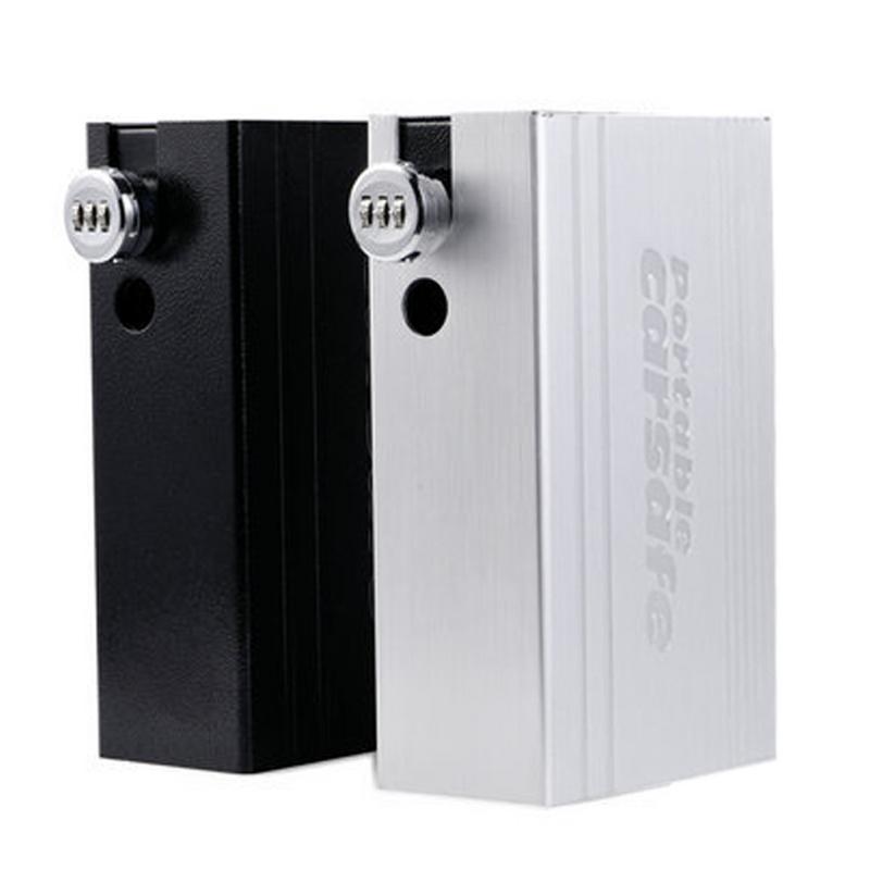Boîte de rangement universelle en alliage d'aluminium coffre-fort à l'intérieur du coussin avec serrure à combinaison fournitures portables Anti-feu