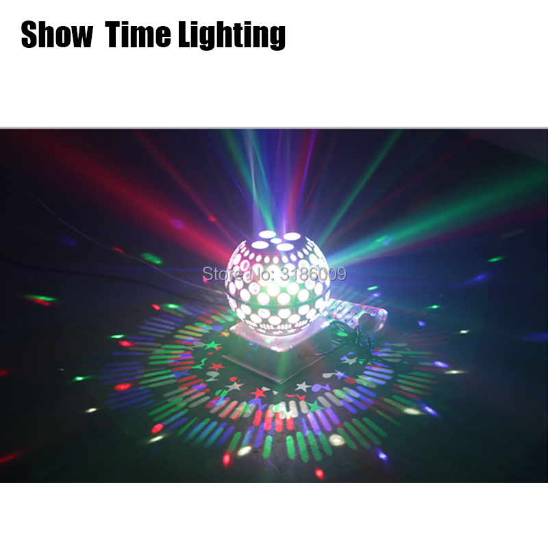 SHOW TIME LED Crystal Magic UFO Light Rotate Lantern Light Professional For Home Entertainment KTV DJ Party Disco Sing Dance