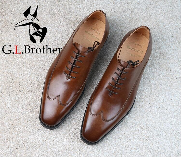 Men's Dress Shoes Formal Business Sewing Genuine Leather Square Toes Derby Shoes Italy Handmade Smart Casual Oxfords цена и фото