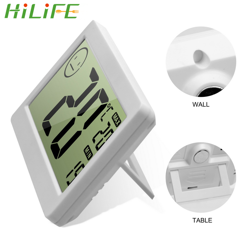 HILIFE Desk-top Placing Humidity Display Household Thermometers LCD Digital Mini DC206 Electronic thermometer Sensor Humidity