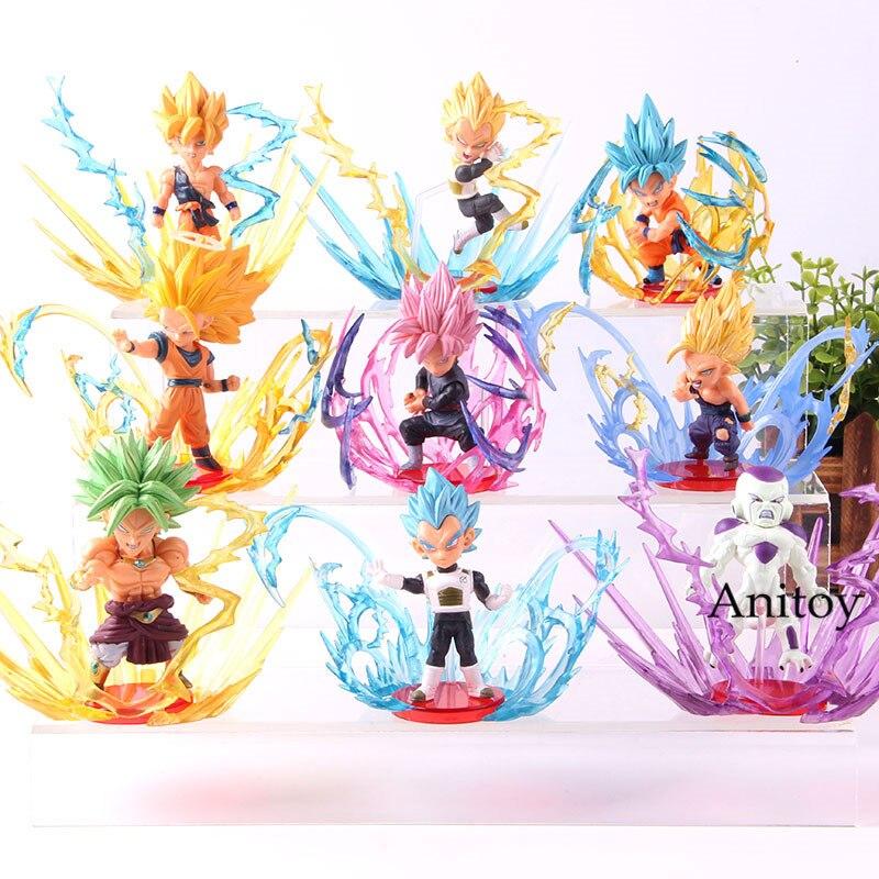 Dragon Ball rafale Broli Frieza Super Saiyan Son Goku Gohan végéta Broly Dragon Ball Action figurine Collection jouet 9 pièces/ensemble