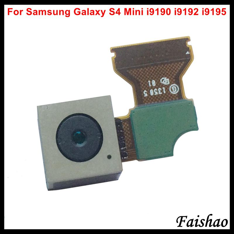 FaiShao New Big Main Back Rear Camera Module with Flex Cable For Samsung Galaxy S4 mini i9190 i9192 i9195 Replacement in Mobile Phone Flex Cables from Cellphones Telecommunications