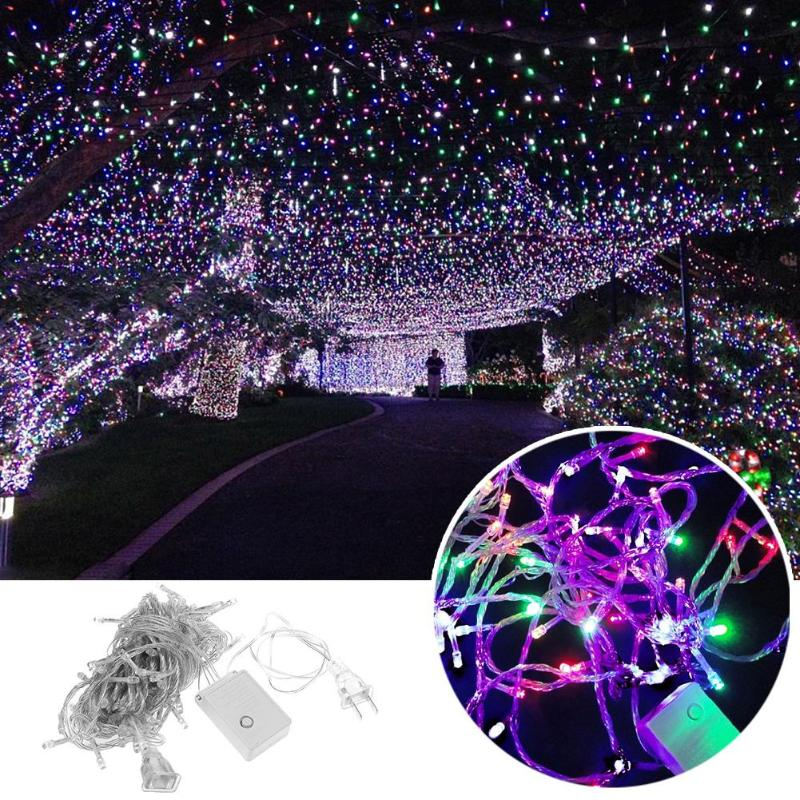 10m/32.8ft 100 LED  String Garland Christmas Tree Fairy Light Luce Waterproof Home Garden Party Outdoor Holiday Decoration