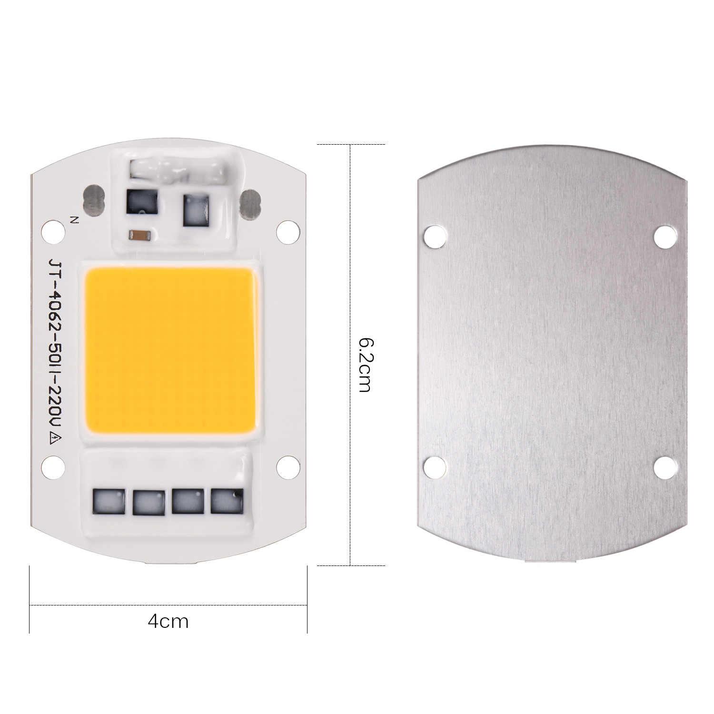 Светодиодный 1 шт. COB Чип прожектор лампа SMD 20 Вт 30 Вт 50 Вт 100 Вт белый/теплый белый с Умной высокой мощности DIY открытый прожектор