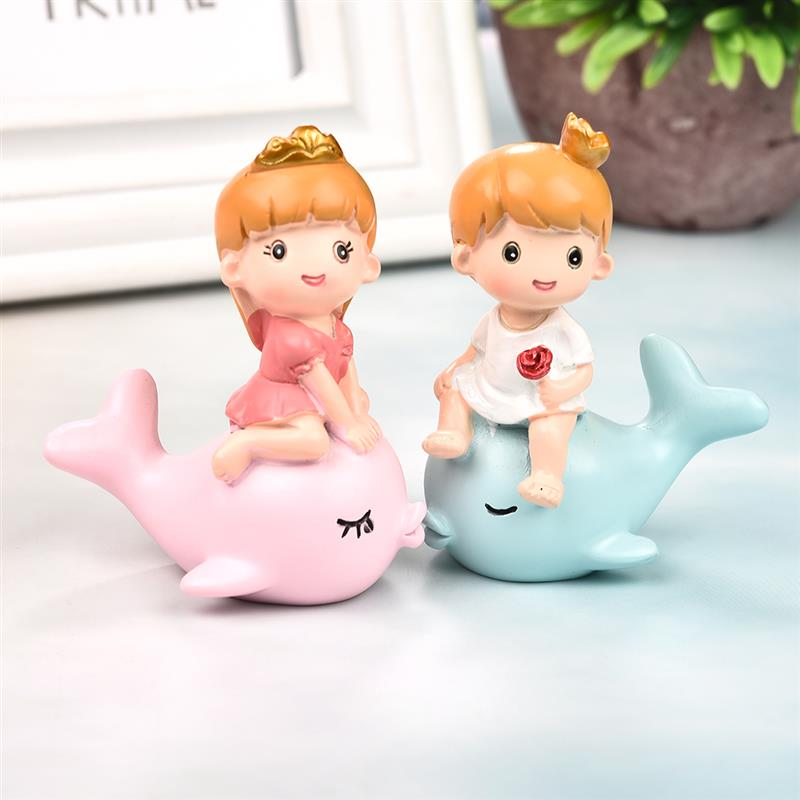 2019 Whale Little Prince Princess Lover Couple Collectible figurines Miniatures Resin Ornaments Residence Ornament Youngster Birthday Doll Present Collectible figurines & Miniatures, Low-cost Collectible figurines & Miniatures, 2019 Whale...