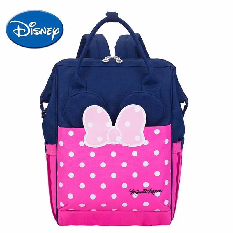 Disney Diaper Bag Minnie Mickey Mouse Large Capacity Mummy Nappy Bag For Baby Care Womens Travel BackpackDisney Diaper Bag Minnie Mickey Mouse Large Capacity Mummy Nappy Bag For Baby Care Womens Travel Backpack