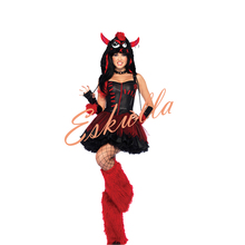 Eskulla Halloween Christmas Women Animal Cosplay Costume Maid Tube Top Uniform Monster Costumes Role Playing Dress Party Club