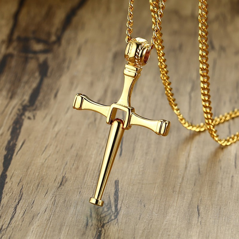 Men S Choker Necklace Hitter Baseball Bat Cross Pendant In