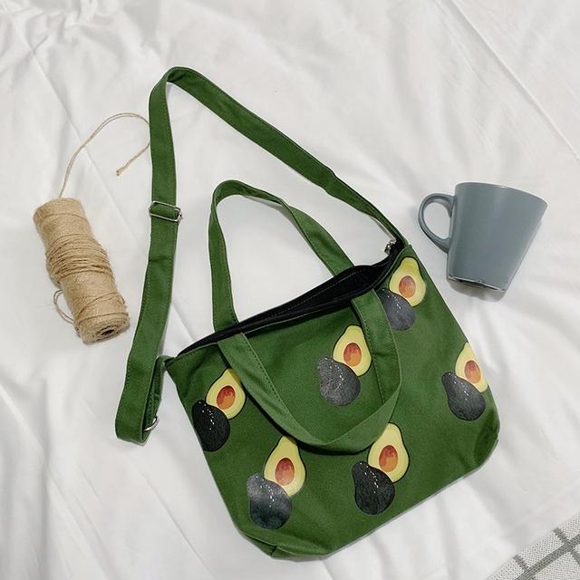 Avocado Canvas Shoulder Bag