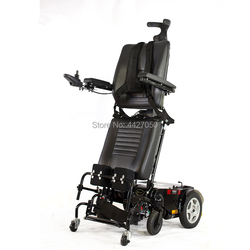 2019 intelligent electric wheelchair standing rehabilitation training disabled scooter electric lift leg backrest
