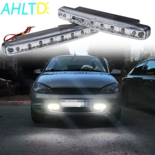 цена на 2X Car Led Daytime Driving Running Light 8 LED DRL Fog Lights Waterproof Bright White Auto Durable DC 12V Head Lamp Parking Bulb