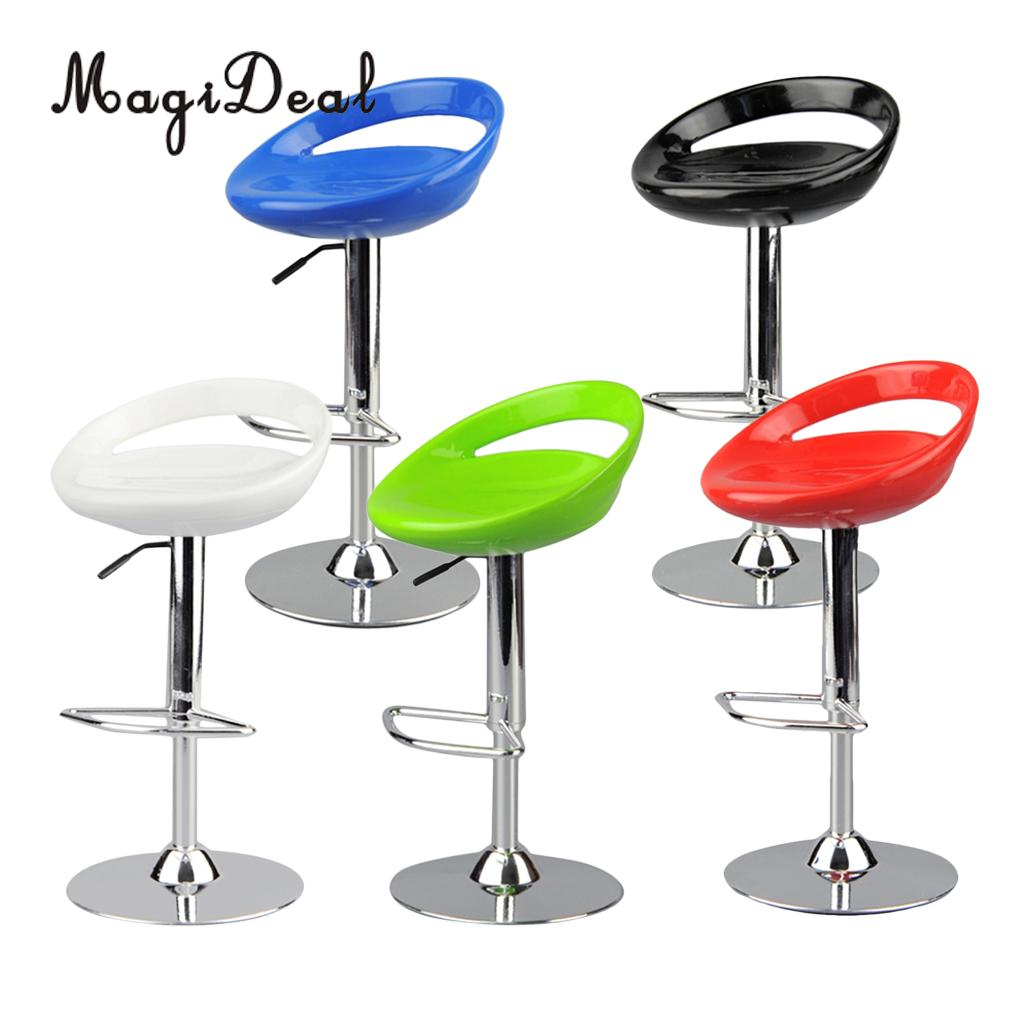 MagiDeal 1/6 Scale Dollhouse Round Swivel Chair Pub Bar Stool Furniture Decor For 12 Inch Action Figure Dolls Acce Toy 6x14cm