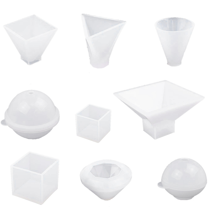 9 Pack Large Resin Casting Molds Silicone Paperweight Molds Including Sphere/Pyramid/Cubic/Diamond Molds, Epoxy Resin Molds Fo9 Pack Large Resin Casting Molds Silicone Paperweight Molds Including Sphere/Pyramid/Cubic/Diamond Molds, Epoxy Resin Molds Fo