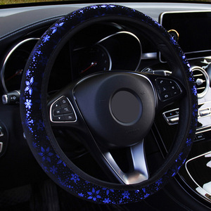 Image 2 - רכב הגה כיסוי רכב היגוי גלגל מכסה Shiny Snowflake רכב סטיילינג קוטר 38cm אוניברסלי אוטומטי אבזרים 4 צבעים