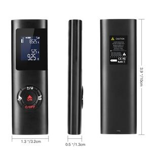 Image 3 - Black 40m Handheld Mini Laser Rangefinder Distance Meter Measure Rechargeable Digital LCD Backlight Metro Range finder M/FT/IN