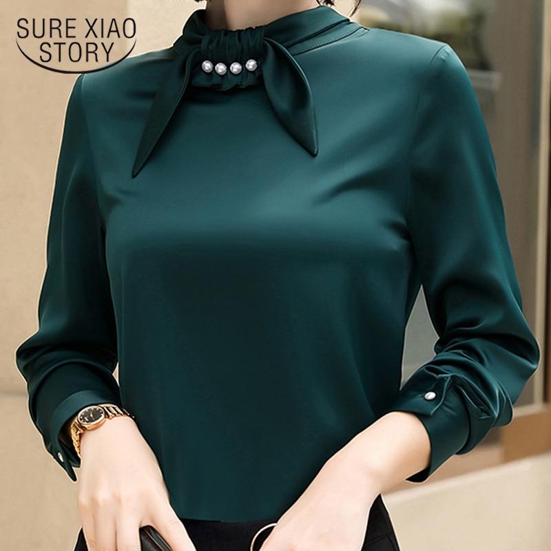 fashion woman blouse 2019 spring women blouse long sleeve chiffon blouses shirt  women tops plus size female clothes 1605 50