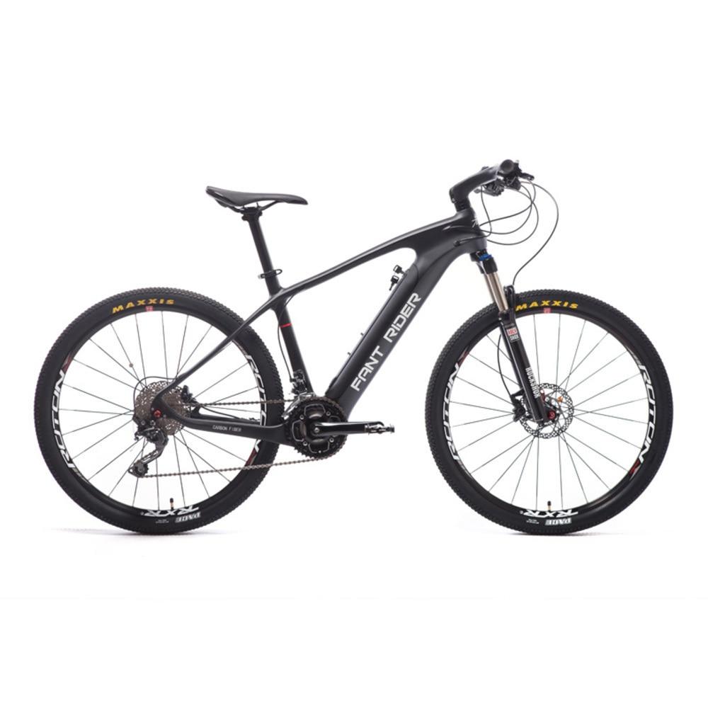 Carbon Fiber Electric Bicycle 27.5 inch Mountain Hybrid Carbon Fiber Smart Lithium Half Mtb Deroe Ebike Pas Motor City