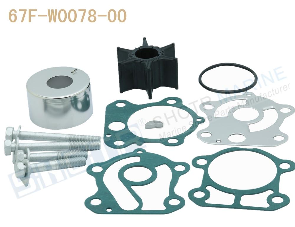 SHCTR Water Pump & Impeller Kit For OEM 67F-W0078-00,Sierra 18-3451,75/80/90/100HP