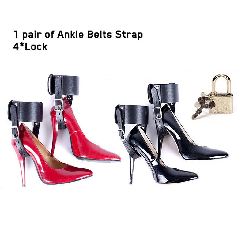 Female Feet Locking Restraint Ankle Belt Strap For High-Heeled Shoes Straps BDSM Game Sex Toy Adult erotic toys for women