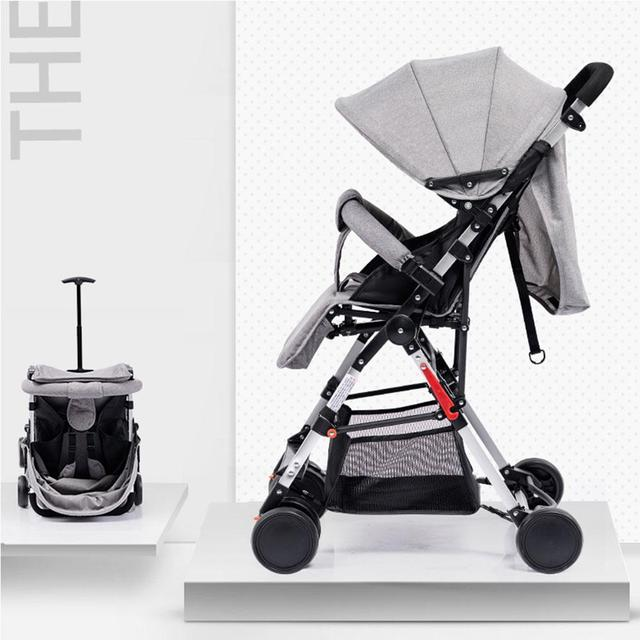Kidlove Pull Rod Type High View Baby Trolley Shock Absorber Baby Stroller 0-3 years old high landscape children umbrella cars 1