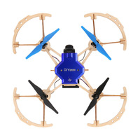ZL100 Diy Drone Mini Pocket Racing RC Drone Wooden Quadcopter Mini Drone 2.4ghz Remote Control Diy Toys For Kids