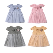 Toddler Infant Kids Lace Summer Tutu Dress Kids Girls Baby Cute Sundress Flower Princess Party Wedding Vestidos недорого