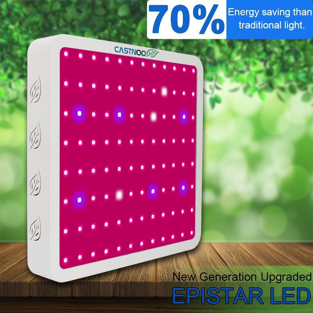 Panel de luz LED CASTNOO de 400W para cultivo hidropónico de espectro completo Espectro completo 300/600/800/900/1000/1200/1800/2000W LED Luz de cultivo 410-730nm para plantas de interior y tienda de cultivo de flores de invernadero