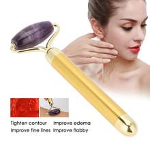 3 soorten Facial Roller Anti-aging Amethist Jade Stone Body Hals Anti Rimpel Massager gezicht skin care tools(China)