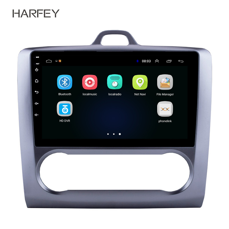 Harfey 2 DIN 9 Android 8 1 GPS Navigation Touchscreen Quad core Car Radio For 2004