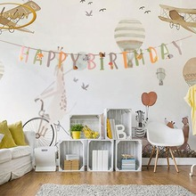 Animal Themed Birthday Party Decorations Happy Banner Jungle Zoo Kids Supplies