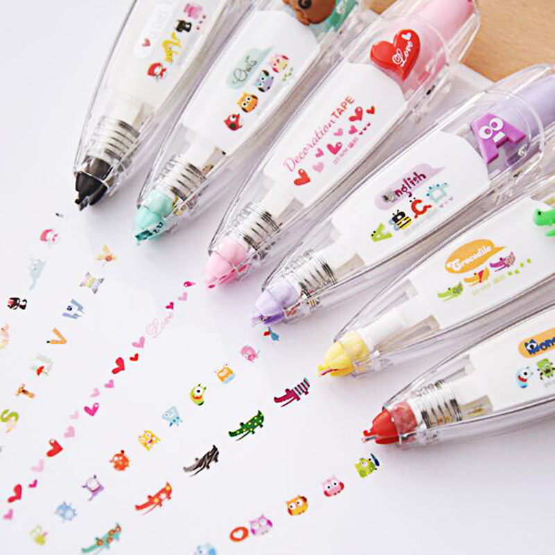 4m/30m Decorative Correction Tape Roller White Sticker Stationery Student Study Office Corrector Altered Tool Gift