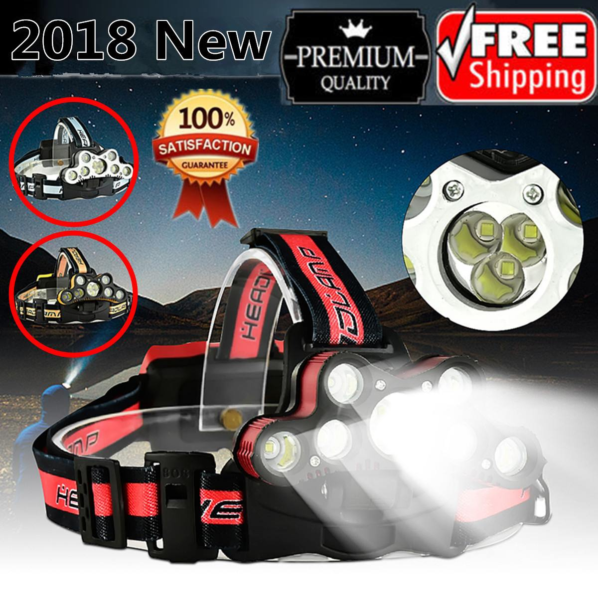 120000LM LED Smuxi headlamp 9*t6 headlight 6 modes head light waterproof flashlight zoomable hand touch use 18650 120000LM LED Smuxi headlamp 9*t6 headlight 6 modes head light waterproof flashlight zoomable hand touch use 18650