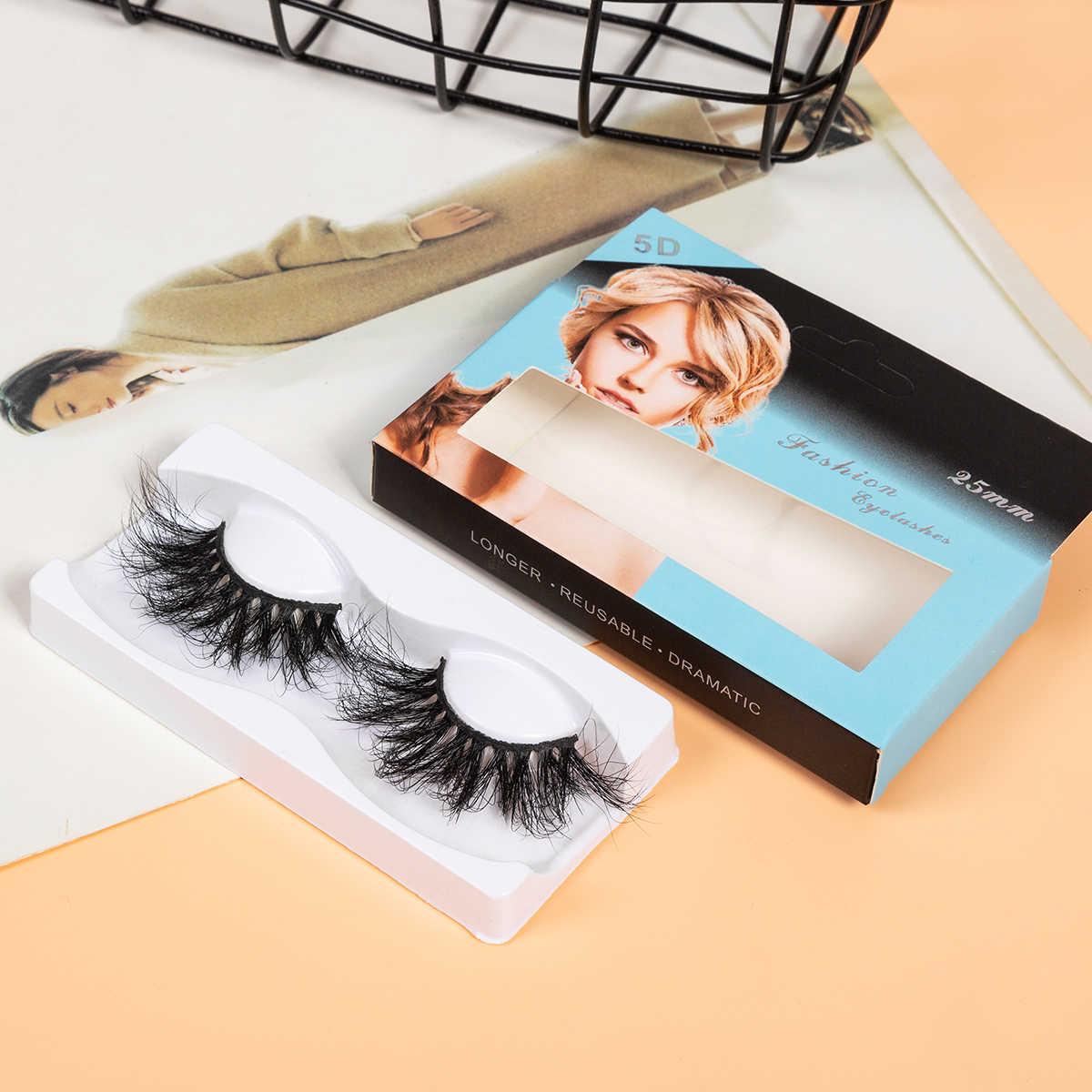 SEXYSHEEP 25 мм 5D норковые ресницы 100% безжалостные ресницы ручной работы многоразовые натуральные ресницы Популярные Накладные ресницы для макияжа