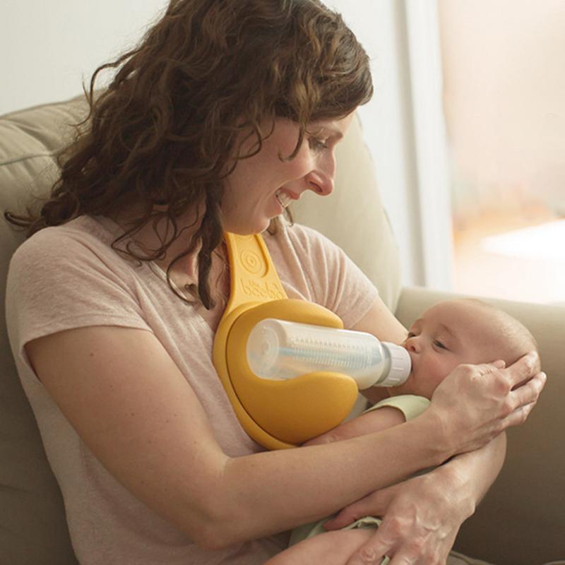 Convenient Hands free Milk Bottle Folder Feeder Free Rotate ...