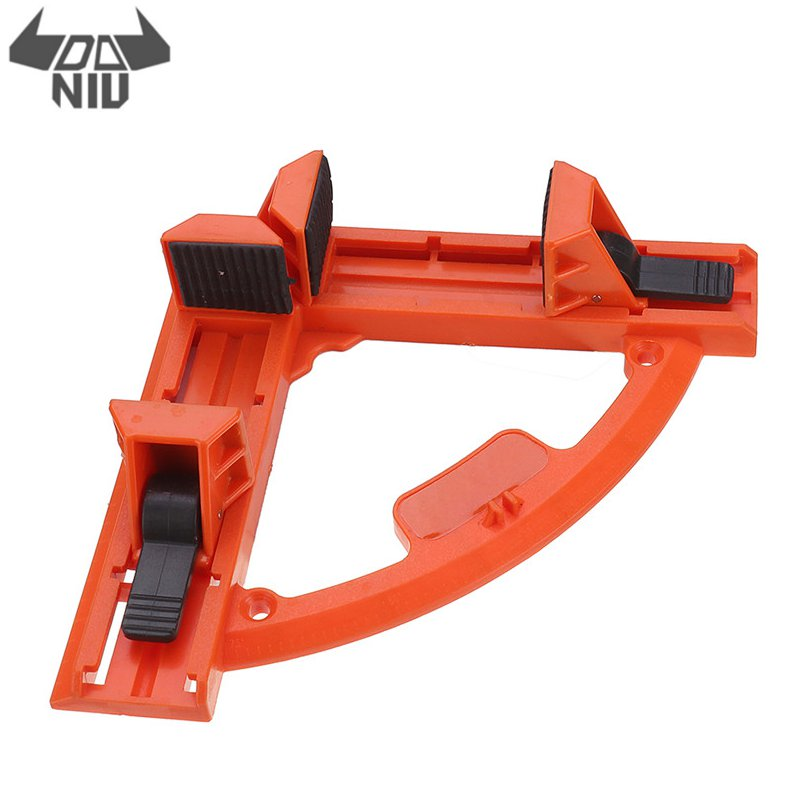 DANIU Adjustable 90 Degree Angle Clamp Right Angle Clip Woodworking Ruler Picture Frame Carpentry Clamp For DIY Tool