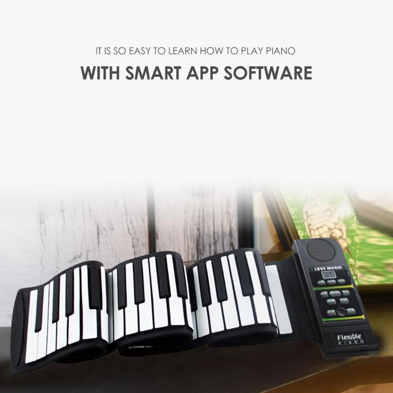 Portable 88 Touches Flexible En Silicone Roll Up Piano Clavier Pliant pour Enfants Étudiant PN88S Instruments de Musique