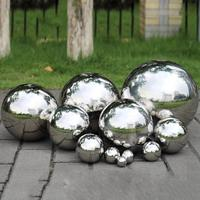 High Gloss Glitter 304 Stainless Steel Ball Sphere Mirror Hollow Ball Home Garden Decoration Supplies Ornament 19mm~300mm