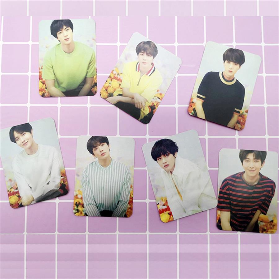Kpop Bts World Tour Love Yourself Japan Photo Cards Bangtan Boys Jimin Suga V Photocard Poster 7pcs Jewelry Findings & Components