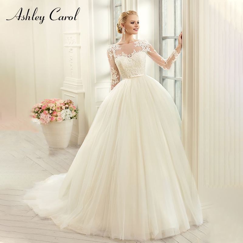 Simple Wedding Dresses Vogue: Ashley Carol Fashion Scoop Long Sleeve Tulle Ball Gown