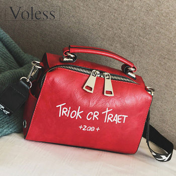 VOLESS Women Shoulder Messenger Bag Handbag Fashion Letter Decoration Tote Bags Wide Strap Crossbody Bag For Women Sac A Main