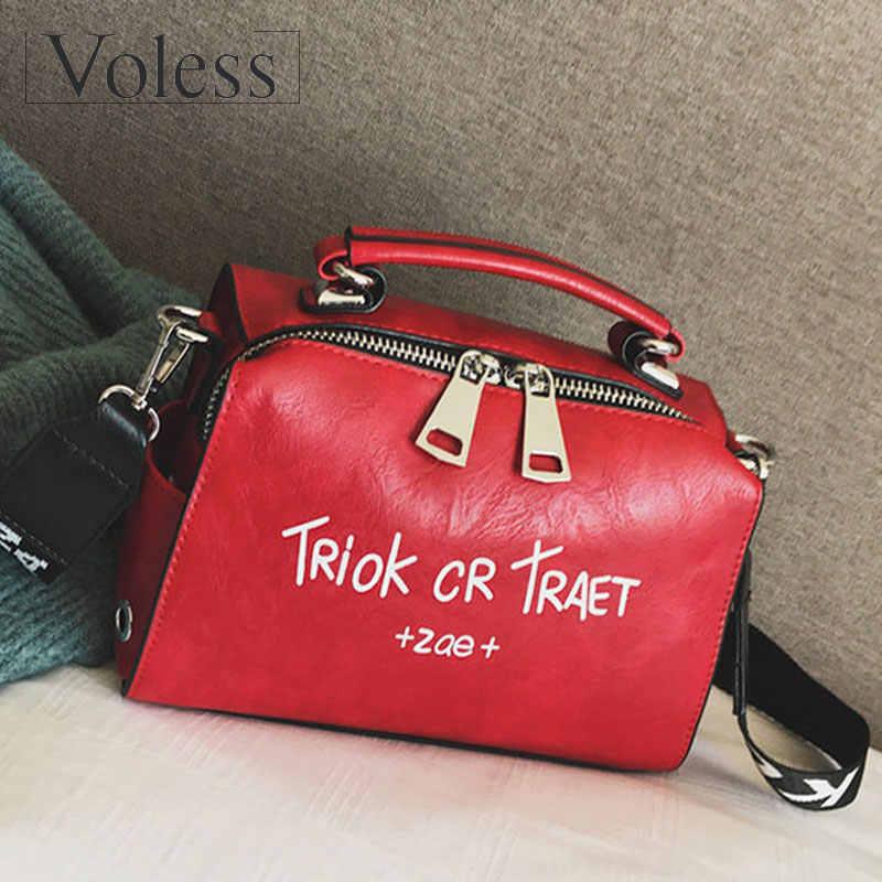 99071c1758d VOLESS Women Shoulder Messenger Bag Handbag Fashion Letter Decoration Tote  Bags Wide Strap Crossbody Bag For Women Sac A Main