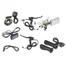 36 В/48 в 250 Вт/350 Вт бесщеточный контроллер для электровелосипеда с ЖК-панелью, Тормозная дроссельная заслонка, Датчик Холла, комплект для электровелосипеда, скутера