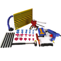 WHDZ Car Paintless Hail PDR Dent Lifter Line Board With Adjustable Holder Repair Removal Tools Glue Puller Tabs Kits