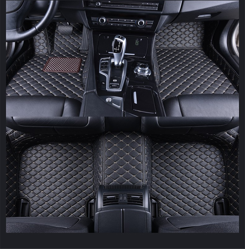 For BMW Leather Front Rear Floor Mats Set Liner Waterproof Mat For BMW 3 Series E90 2005 2006 2007 2008 2009 2010 2011 2012 2013