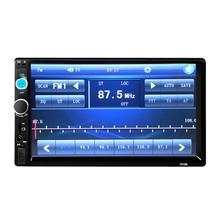 """7010B 2DIN 7,"""" HD в тире автомобиль сенсорный Bluetooth 3,0 стерео MP5 Поддержка MP3/FM/камера заднего вида/USB/TF/пульт дистанционного управления Управление"""