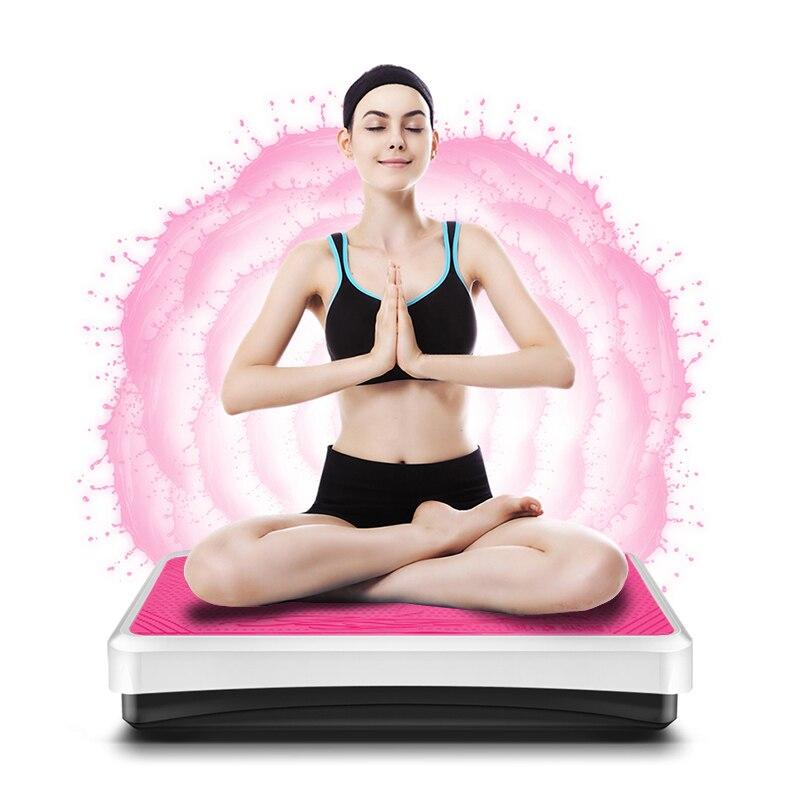 Enchufe de la UE de vibración Fitness masajeador máquina de adelgazamiento para perder peso muscular Abdominal entrenador entrenamiento equipos HWC