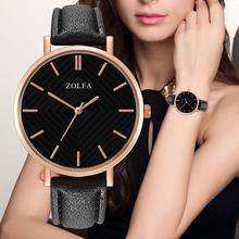 купить ZOLFA Women Watches Top Brand Luxury Ultra-thin Fashionable High Grade Black Red Band Quartz Watch For Ladies по цене 182.81 рублей