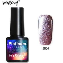 WiRinef Starry Glitter Effect UV LED Gel Nail Polish Bling Glitter Platinum 10Colors Long Lasting Nail Art Manicure Lacquer Gel(China)
