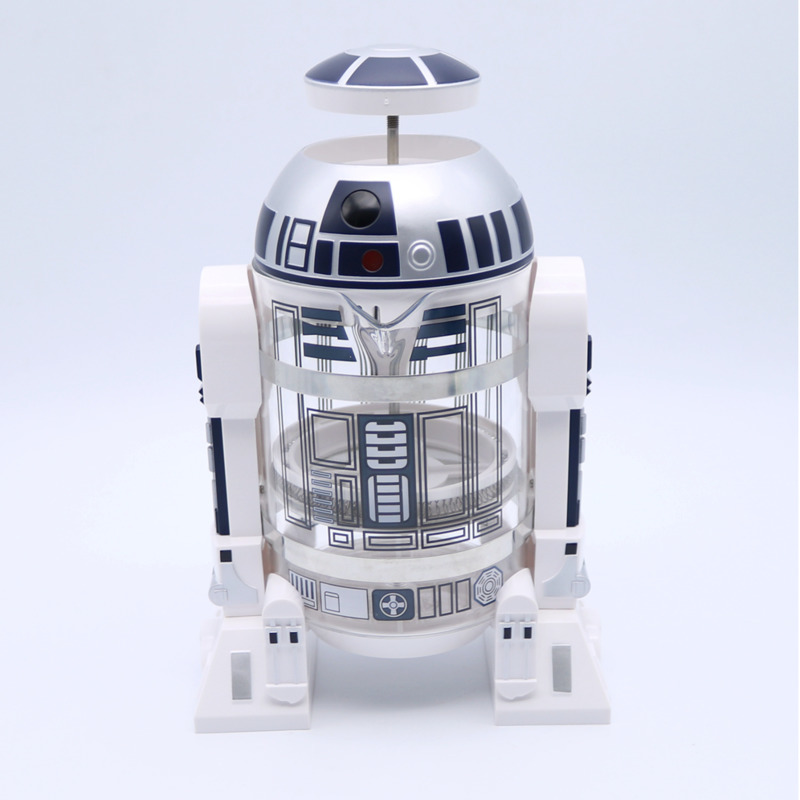 WSHYUFEI 960ml Home Mini Star Wars R2 d2 Manual Coffee Maker French Pressed Coffee Pot
